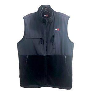 Tommy Hilfiger Flag Logo Zip Up Fleece Vest Small